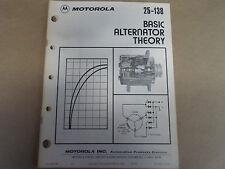 1979 Motorola 25-138 Basic Alternator Theory OEM Boat 79