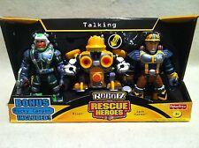Rescue Heroes Robotz Jack Hammer & Rivet & Bonus Rocky Canyon SetFactory Sealed!