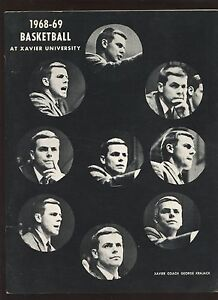 1968/1969 NCAA Basketball Xavier Yearbook EX+
