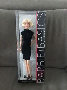 BARBIE  BASICS collector MODELE 09-001 Black label mattel Never Open
