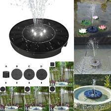 LED SolarPanel Powered Submersible Floating Fountain Garden Pool Pond Water Pump