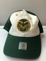Vintage Colorado State University CSU Rams Football Green Snapback Hat. Twins