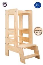 Lernturm für Kinder Hochstuhl Learning Tower Lernstuhl Tritthocke Natural 110 kg