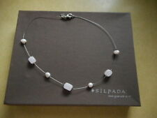Silpada Sterling Silver Pink Pearl Rose Quartz Wire Necklace N1724 Retired!