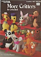 More Critters to Crochet Animal Patterns Kangeroo Elephant Duck Panda Vintage