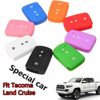 3 Buttons Silicone Key Cover Case Shell For Toyota Tacoma Land Cruise 2016
