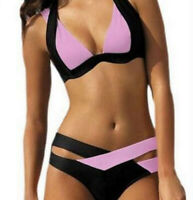 Women Monokini Bikini Set Bandage Push-Up Bra Swimwear Swimsuit Bathing Suit