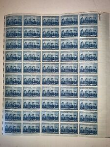 US Stamps SC# 1013 Service Women 3c sheet of 50 MNH 1952