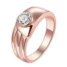 18K Rose Gold GP Lady's Swarovski Crystal Wedding Engagement Band Ring Size 10