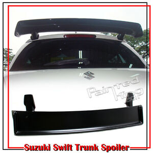 Fit For Suzuki Swift 2nd Hatchback M Style Trunk Spoiler 2011 ZA11S Unpaint