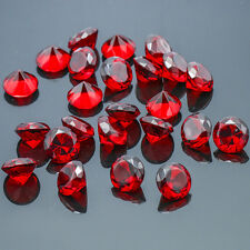 24x Red Diamond Shaped Crystal Glass Art Paperweight Wedding Favor Shower 20mm