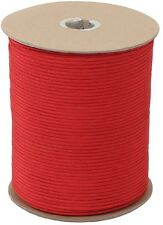 RED 550LB 7 Strand 100% Nylon Made USA Parachute Paracord 1000 FT Spool 223