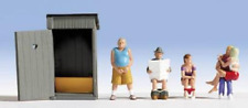 Noch 15560 Toilet Stories HO Gauge Ready Painted Figures Set