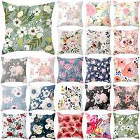 Spring Flower Floral Pattern Pillow Case Sofa Waist Throw Cushion Cover Decor 18