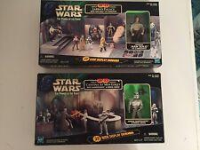 Star Wars POTF Jabba's Palace & Mos Eisley diorama Han Solo & Sandtrooper figure
