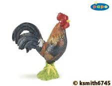 Papo ROOSTER solid plastic toy pet farm BIRD animal COCKEREL chicken * NEW 💥