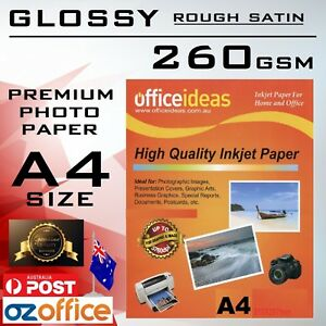ROUGH SATIN 260GSM A4 High Glossy Photo Paper Resin Coated for Xerox Canon Epson