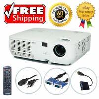 Refurbished NEC NP215 DLP Projector 3D 2500 HD 1080i HDMI-adapter Remote