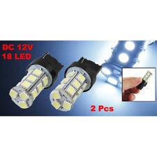 New 2Pcs 7443 7440 T20 White 18 LED 5050 SMD Tail Brake Light Bulbs N3
