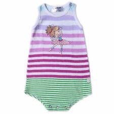 Oshkosh B'gosh Stripes #1 Ballerina S/L Romper Infant/Baby Girl Clothes, Newborn