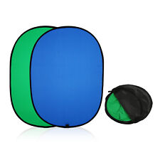 Photo Studio Popup Backdrop Green/Blue  Oval Background Panel Screen Collapsible
