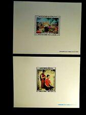 Laos Presentation Proof Stamp Sheet Set Scott C62-C63 Mnh Rare Item