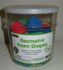 Lakeshore Geometric 3D Foam Shapes - 39 Total