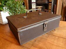 Scatola in acciaio vintage effetto anticato patina Clean oliato archiviazione retrò fresco industriale