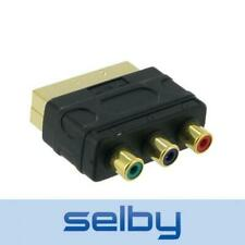 SCART to Component Video Adaptor Gold Plated VSA6