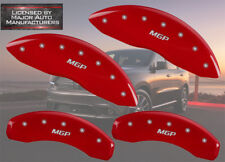 "2006-2010 Dodge Ram 1500 Front + Rear Red ""MGP"" Brake Disc Caliper Covers 4p Set"