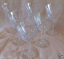 Série de 6 verres à eau cristal taillé jambe à 6 facettes pied étoilé