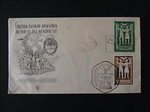 Erstagsbrief Argentinien Cruzada Escolar Por La Paz Mundial - b6975