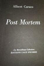 Albert Caraco Post Mortem E.O 1968 Num. Beau papier
