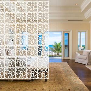 12x Weiß Paravent Raumtrenner Raumteiler Trennwand Wand Sichtschutz Vorhang