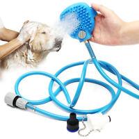Shower Sprayer and Scrubber for Pet Bathing Tool Blue Grooming Brushes Rabbit UK