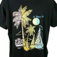 St Thomas Sailing T Shirt Vintage 90s US Virgin Islands Yachting Made In USA XL