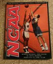 1998 OFFICIAL NCAA FINAL FOUR Midwest regional mens championship BASKETBALL