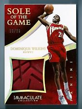 DOMINIQUE WILKINS 2014/15 IMMACULATE COLLECITON SOLE OF THE GAME SHOE SOLE /26