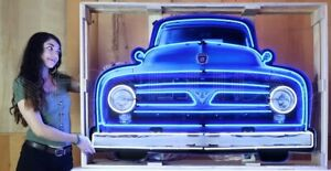 FORD V8 TRUCK GRILL - NEON SIGN IN A CAN - FORD - NEW - NEON SIGN - CAR