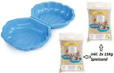 Sandkasten 2-teilig Sandkasten Wasser-Muschel ,Groß, Blau XXL Sandkasten Schale