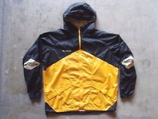 Vintage Columbia Windbreaker Jacket Size XL Black Rain Coat Running Sports