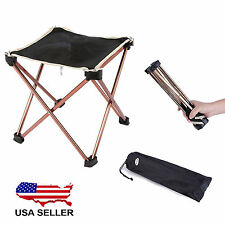 Aluminum Folding Seat Stool Fishing Picnic Camping Hiking Beach Backpack Chair V