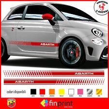 FASCE ADESIVE FIAT 500 ABARTH adesivi fasce LATERALI 500 ABARTH FIAT OMAGGIO