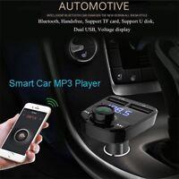 Bluetooth FM Transmetteur Voiture Kit MP3 Lecteur Double USB Chargeur