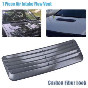 Carbon Fiber Style Decorative Air Flow Intake Scoop Turbo Bonnet Cover Hood