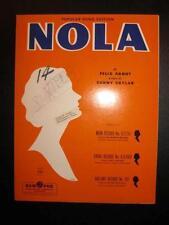 Nola Sheet Music Vintage 1959 Felix Arndt Sunny Skylar Sam Fox Publishing (O)