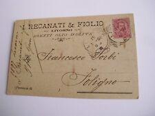 Livorno - I. Recanati & Figlio agenti olio d'oliva - spedita f. p. 1897