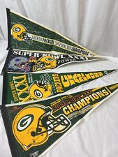 Lot of 4 Vintage 90's Green Bay Packers Wincraft felt Pennants Super Bowl XXXI