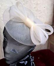 ivory cream fascinator millinery burlesque wedding hat ascot race bridal party