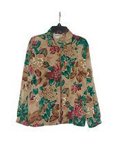 Teddi Light Brown Floral Jacket Small Women